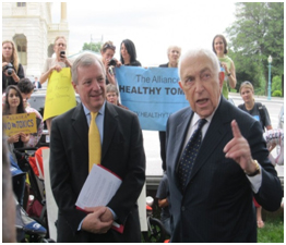 Senators Lautenberg and Durbin, pushing to fix a broken chemical law